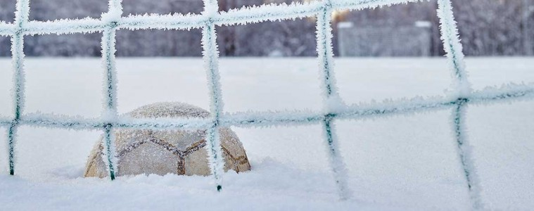 soccerball in snow