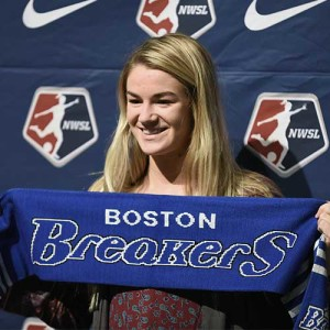 christen westphal at the 2016 nwsl college draft