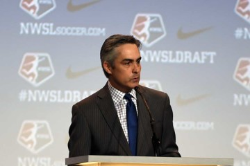 Jeff Plush at the 2016 NWSL College Draft