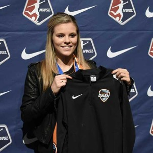 Rachel Daly at the 2016 NWSL College Draft