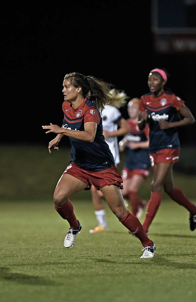 Katie Stengel for the Washington Spirit by Cynthia Hobgood