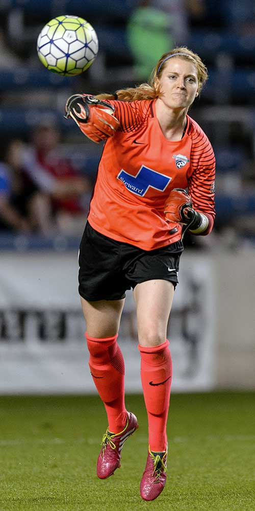 Boston Breakers goalkeeper Libby Stout by Mike Gridley.