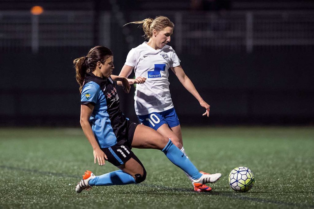 Louise Schillgard of the Boston Breakers by Mike Gridley.