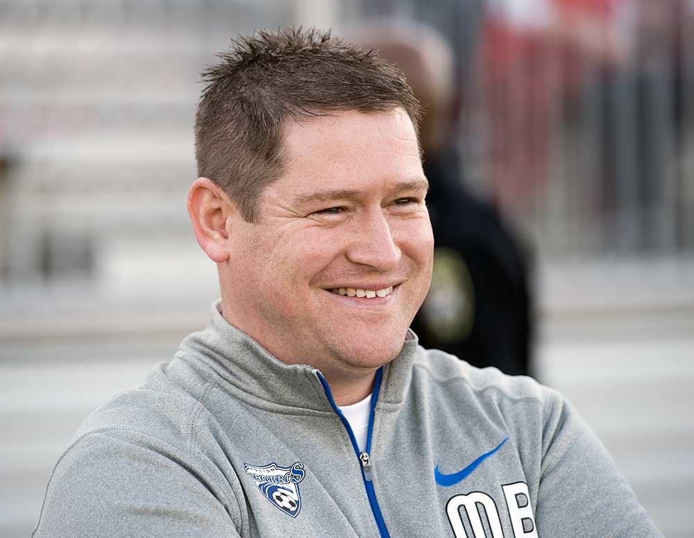 Matt Beard, head coach of the Boston Breakers, by Mike Gridley.
