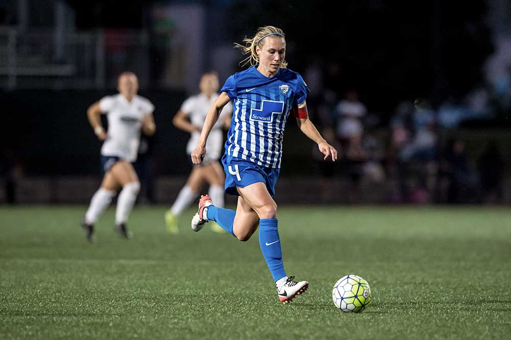 Whitney Engen of the Boston Breakers by Mike Gridley.