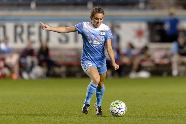 Courtney Raetzman of Chicago Red Stars by Daniel Bartel