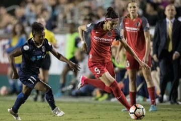 Taylor Smith (11) and Nadia Nadim (9) (Shane Lardinois).