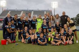 North Carolina Courage team headed to the 2017 NWSL Championship. (Shane Lardinois)