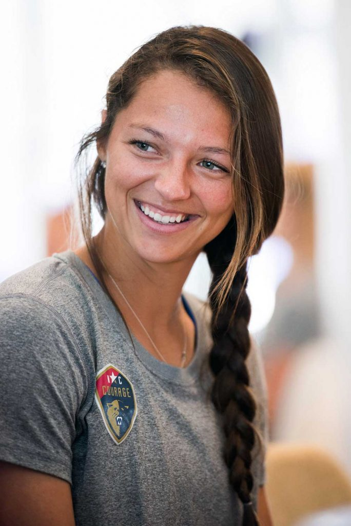 Ashley Hatch during 2017 NWSL Media Day. (Monica Simoes)