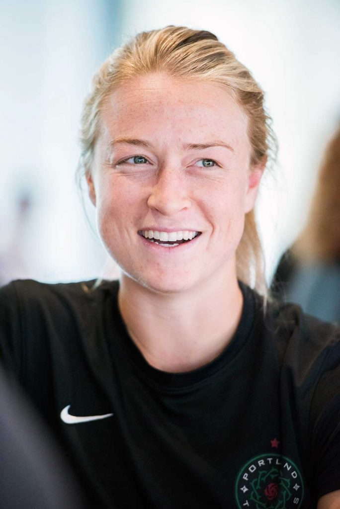 Emily Sonnett during 2017 NWSL Media Day. (Monica Simoes)