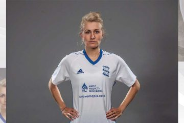 Emma Follis in Birmingham City uniform (Twitter, Follis/Birmingham City).