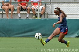 Crystal Dunn during U.S. Women's National Team open training on August 19, 2014, in Cary, N.C.