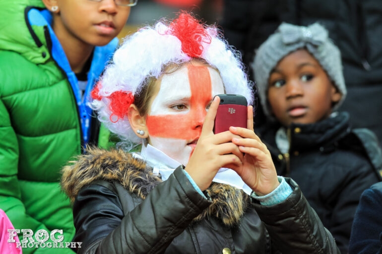 England fan during the match between England and Germany at Wembley Stadium on November 23, 2014.