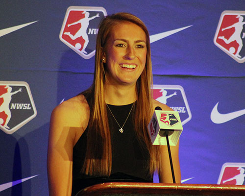 Sarah Killion at the 2015 NWSL College Draft