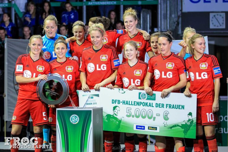 Bayer 04 Leverkusen, winners of the 2015 DFB-Hallenpokal tournament.