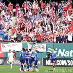 USA celebrating Lori Chalupny's goal against New Zealand on April 4, 2015.