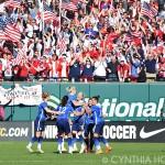 USA celebrating Julie Johnston's (26) goal against New Zealand.
