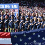 USA starting lineup against New Zealand on April 4, 2015, at Busch Stadium in St. Louis, Missouri.