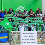 Supports of VfL Wolfsburg.