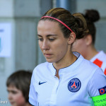 Sabrina Delannoy (PSG) walking out of the tunnel.