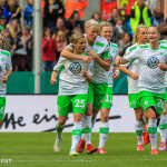 VfL Wolfsburg celebrates Martina Müller's first goal during the final of the 2015 Frauen DFB-Pokal.