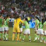 Mexico before the whistle on May 17, 2015, at StubHub Center in Carson, California.