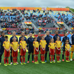 Starting lineup for France against England in the opening match of Group F during the 2015 FIFA Women's World Cup in Canada.