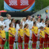 Starting lineup for England against France in the opening match of Group F during the 2015 FIFA Women's World Cup in Canada.