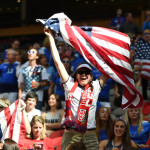 Team USA's supporters.