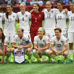 USA's starting lineup against Nigeria during Group D play during the 2015 FIFA Women's World Cup in Vancouver.