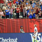 USA's Abby Wambach after scoring the game-winner against Nigeria in a Group D match during the 2015 FIFA Women's World Cup.