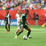 USA's Meghan Klingenberg and Nigeria's Evelyn Nwabuoku.
