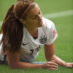 USA's Alex Morgan during a Group D match against Nigeria in the 2015 FIFA Women's World Cup.