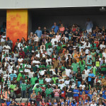 Supporters of Nigeria during a Group D match against the United States in the 2015 FIFA Women's World Cup in Vancouver, British Columbia.