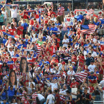 American Outlaws during the match between USA and Sweden.