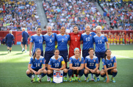 USA's starting lineup against Sweden in a Group D matchup at the 2015 FIFA Women's World Cup in Canada.
