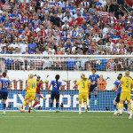 Part 1 of USA's Meghan Klingenberg clearing the ball off the goal line late in the second half.