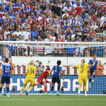 Part 2 of USA's Meghan Klingenberg clearing the ball off the goal line late in the second half.