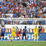 Part 3 of USA's Meghan Klingenberg clearing the ball off the goal line late in the second half.