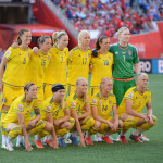 Sweden's starting lineup against the United States in a Group D match at the 2015 FIFA Women's World Cup.