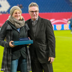 Silke Rottenberg is honored for her 100+ caps for Germany.