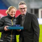 Kerstin Stegemann is honored for her 191 caps for Germany.