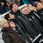 Germany's bench during the anthems.