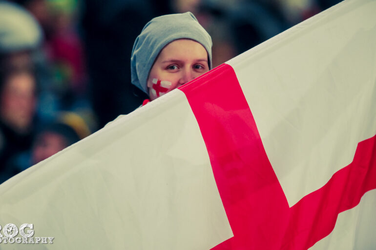 One of England's supporters.