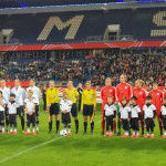Starting lineups for Germany and England on November 26, 2015.