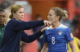 Jill Ellis and Amy Rodriguez