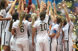 uswnt celebrating 2015 world cup win