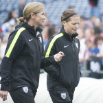 """So, I said..."" Jill Ellis and Michelle French."