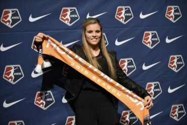 Rachel Daly with Houston Dash on Draft Day