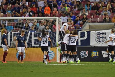 Germany celebrates Maier's game-winning goal.